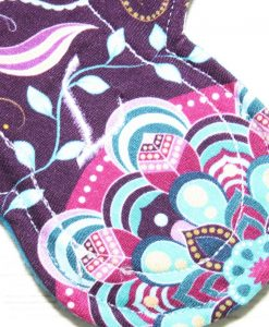 6″ Regular Flow cloth pad | Harmony Cotton Jersey | Blue Wind Pro Fleece | Luna Landings | Slim Sub