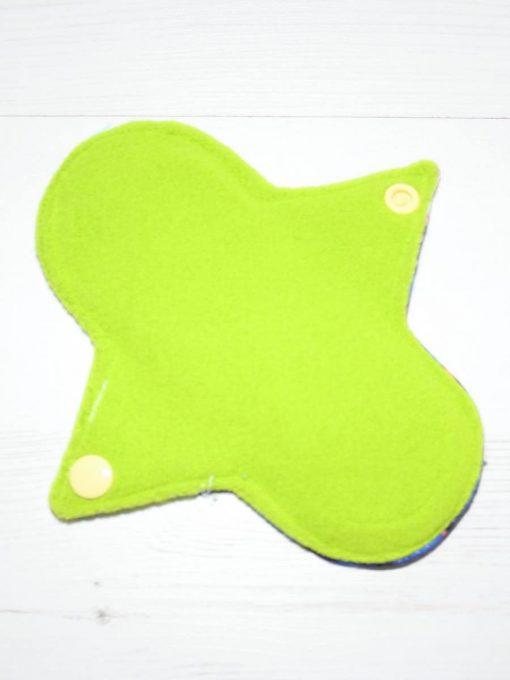 "6"" Regular Flow cloth pad | KaleidoSmoke Firewater Cotton Jersey | Green Wind Pro Fleece | Luna Landings | Sub"