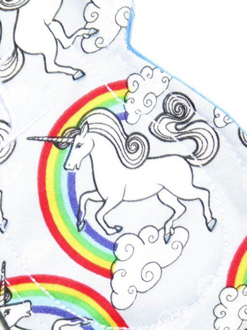 "8"" Light Flow cloth pad   Silver Unicorns Cotton   Blue Wind Pro Fleece   Luna Landings   Slim Sub"