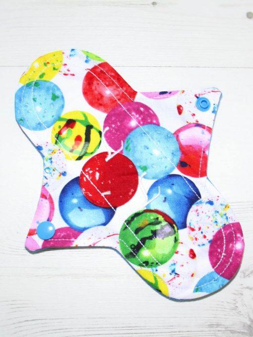 "8"" Liner cloth pad | Gobstopper Cotton | Blue Wind Pro Fleece | Luna Landings | Sub"