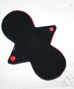 8″ Regular Flow cloth pad   Red Plush   Black Wind Pro Fleece   Luna Landings   Slim Sub