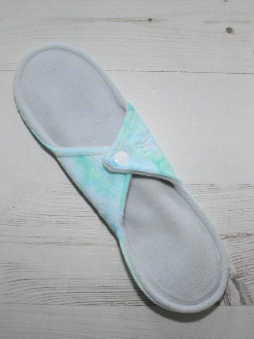 10″ Regular Flow cloth pad | Sea Foam Plush | Blue Wind Pro Fleece | Luna Landings | Sub