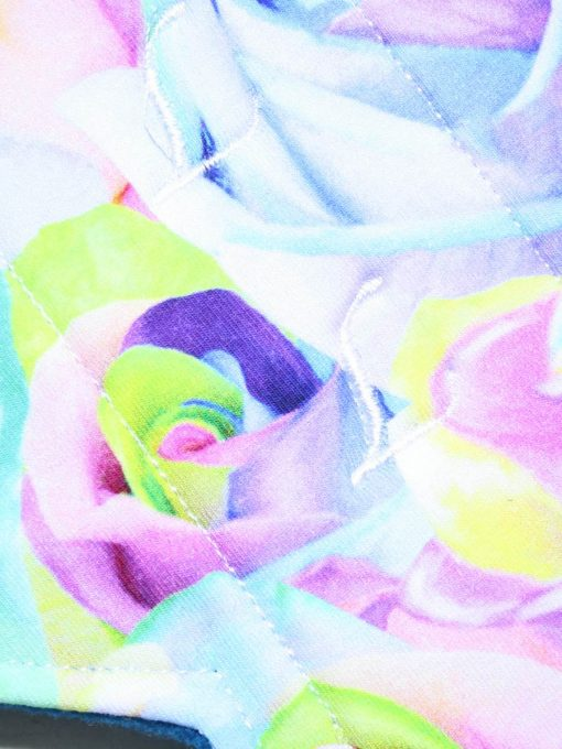 "12"" Heavy Flow cloth pad | Florence Roses Cotton Jersey | Blue Wind Pro Fleece | Luna Landings | Double Flare"