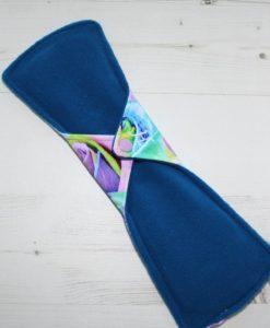 12″ Heavy Flow cloth pad | Florence Roses Cotton Jersey | Blue Wind Pro Fleece | Luna Landings | Double Flare