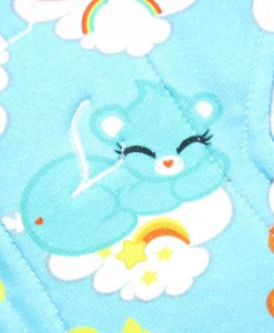 12″ Heavy Flow cloth pad | Sleeping Cuties Cotton Jersey | Blue Wind Pro Fleece | Luna Landings | Double Flare