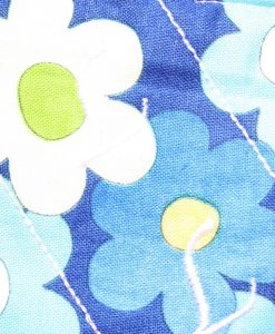 6″ Liner cloth pad | Blue Daisies Cotton | Cream Polar Fleece | Luna Landings | Sub