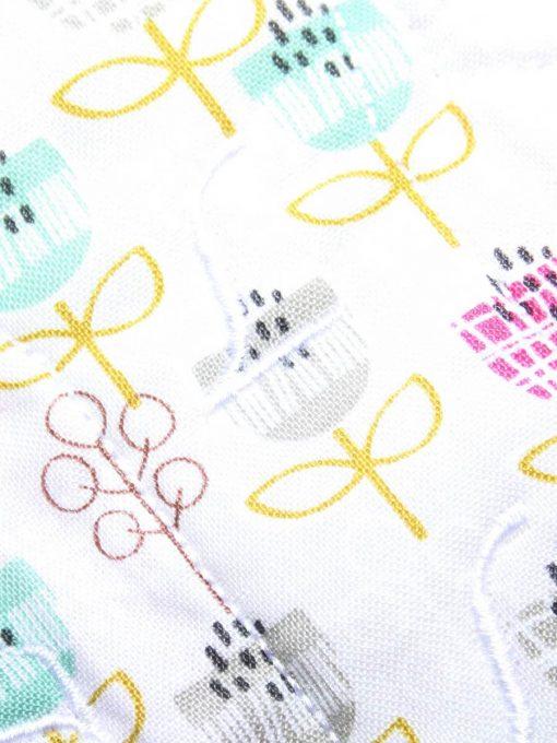"6"" Liner cloth pad | Petite Street Cotton | Pink Polar Fleece | Luna Landings | Slim Sub"