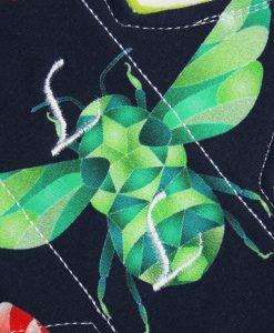 10″ Liner cloth pad | Beeometry Cotton Jersey | Green Wind Pro Fleece | Luna Landings | Slim Sub