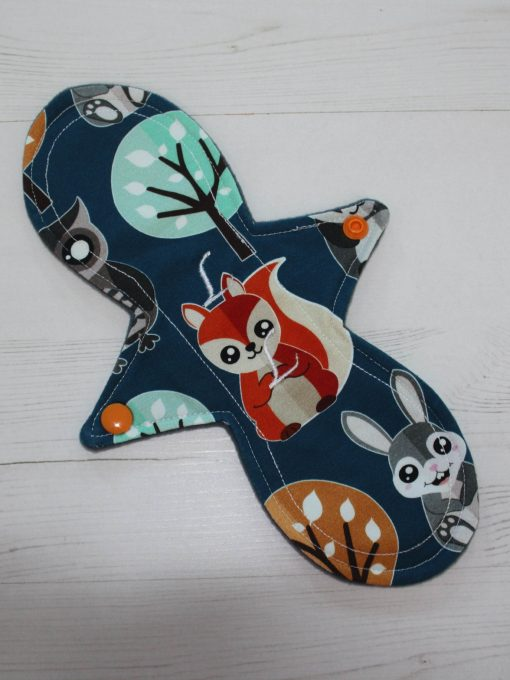10″ Liner cloth pad | Nightlife Cotton Jersey | Grey Wind Pro Fleece | Luna Landings | Slim Sub