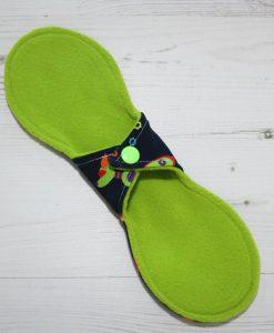 10″ Liner cloth pad | Robots Cotton Jersey | Green Wind Pro Fleece | Luna Landings | Slim Sub