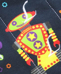 10″ Regular Flow cloth pad | Robots Cotton Jersey | Green Wind Pro Fleece | Luna Landings | Sub