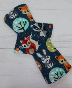 12″ Regular Flow cloth pad | Nightlife Cotton Jersey | Grey Wind Pro Fleece | Luna Landings | Double Flare