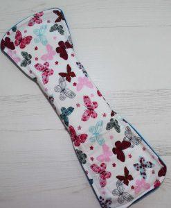 12″ Regular Flow cloth pad | Vivid Butterflies Cotton | Blue Wind Pro Fleece | Luna Landings | Double Flare