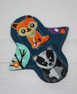 6″ Liner cloth pad | Nightlife Cotton Jersey | Grey Wind Pro Fleece | Luna Landings | Sub