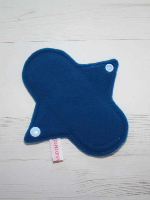 6″ Liner cloth pad | Soft Stripe Unicorn Cotton | Blue Wind Pro Fleece | Luna Landings | Sub