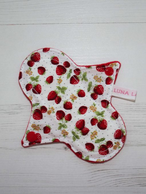 6″ Liner cloth pad | Strawberry Patch Cotton | Red Wind Pro Fleece | Luna Landings | Sub