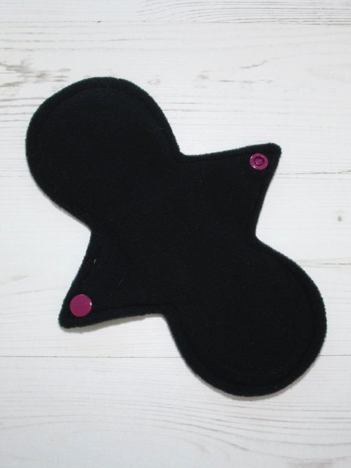 8″ Light Flow cloth pad | Bubbles Cotton Jersey | Black Wind Pro Fleece | Luna Landings | Slim Sub