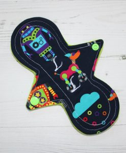8″ Liner cloth pad | Robots Cotton Jersey | Green Wind Pro Fleece | Luna Landings | Slim Sub