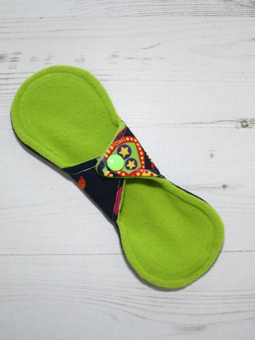 8″ Liner cloth pad | Robots Cotton Jersey | Green Wind Pro Fleece | Luna Landings | Slim Sub