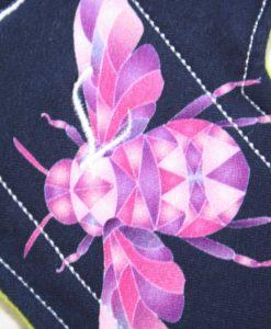 8″ Regular Flow cloth pad | Beeometry Cotton Jersey | Green Wind Pro Fleece | Luna Landings | Sub