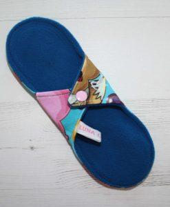 9″ Regular Flow cloth pad | Catch Em All Cotton Jersey | Blue Wind Pro Fleece | Luna Landings | Sub