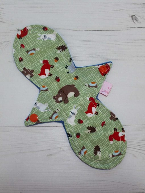 10″ Liner cloth pad | Forest Critters Cotton | Blue Wind Pro Fleece | Luna Landings | Slim Sub
