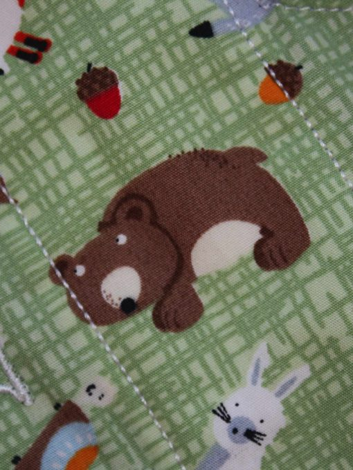 "10"" Liner cloth pad | Forest Critters Cotton | Blue Wind Pro Fleece | Luna Landings | Slim Sub"