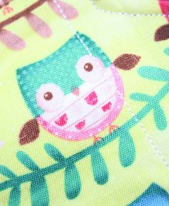 10″ Liner cloth pad | Owl Chorus Cotton | Burgundy Wind Pro Fleece | Luna Landings | Sub