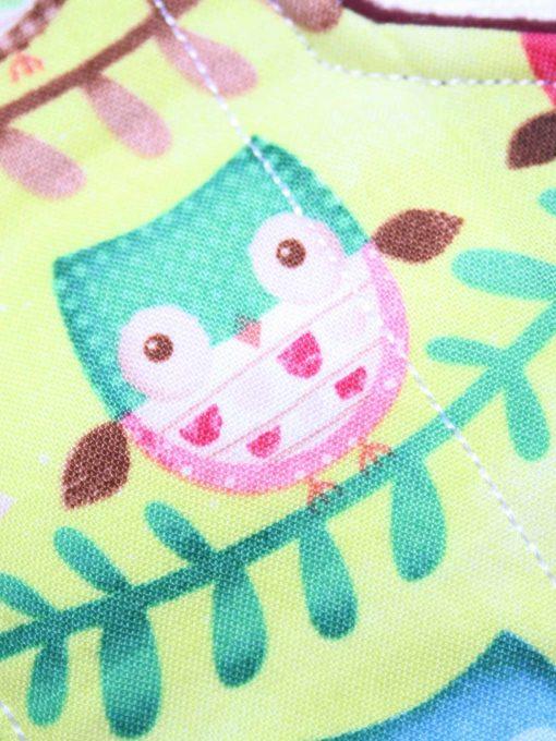 "10"" Liner cloth pad   Owl Chorus Cotton   Burgundy Wind Pro Fleece   Luna Landings   Sub"