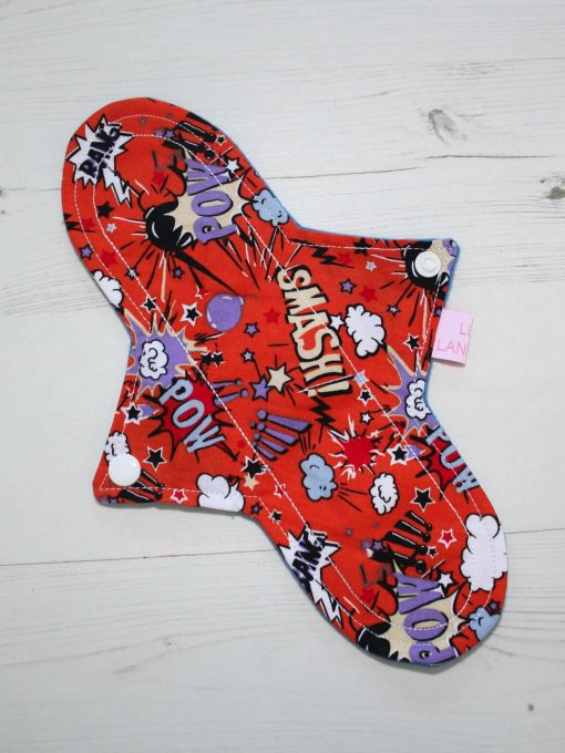 10″ Liner cloth pad | Pow Cotton | Blue Wind Pro Fleece | Luna Landings | Sub
