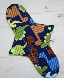 11″ Liner cloth pad | Dinos Cotton | Green Soft Shell | Luna Landings | Sub