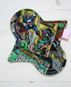 "6"" Liner cloth pad | Marvel Comics Cotton | Green Wind Pro Fleece | Luna Landings | Sub"