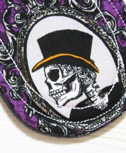"6"" Light Flow cloth pad | Skull Portraits Cotton | Black Wind Pro Fleece | Luna Landings | Sub"