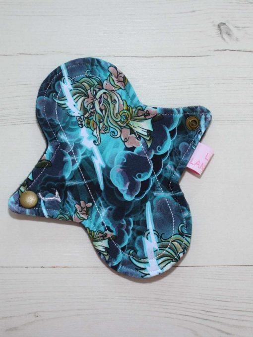 6″ Light Flow cloth pad | Zeus Cotton Jersey | Black Wind Pro Fleece | Luna Landings | Sub