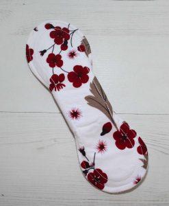 9″ Light Flow cloth pad   Flowers on Ivory Cotton   White Soft Shell   Luna Landings   Slim Sub