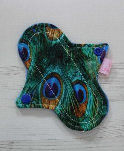 "6"" Liner cloth pad   Peacock Feathers Cotton   Blue Wind Pro Fleece   Luna Landings   Sub"