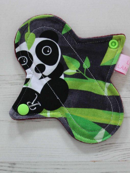 "6"" Regular Flow cloth pad | Panda Cotton Jersey | Wine Wind Pro Fleece | Luna Landings | Sub"