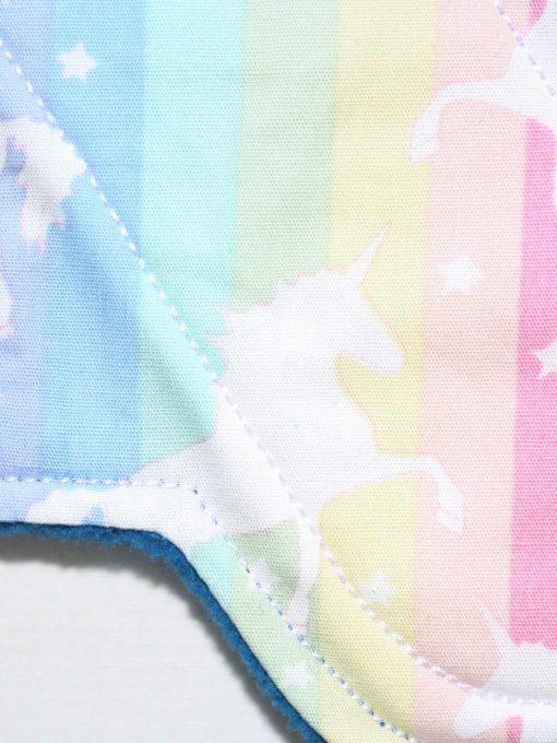 "6"" Regular Flow cloth pad   Soft Stripe Unicorns Cotton   Blue Wind Pro Fleece   Luna Landings   Sub"