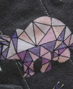 8″ Regular Flow cloth pad | Crystal Dinosaurs Cotton Jersey | Grey Wind Pro Fleece | Luna Landings | Slim Sub