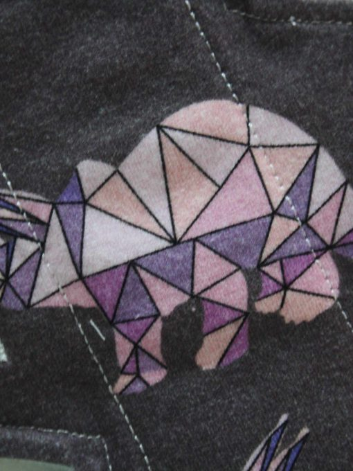 "8"" Regular Flow cloth pad | Crystal Dinosaurs Cotton Jersey | Grey Wind Pro Fleece | Luna Landings | Slim Sub"