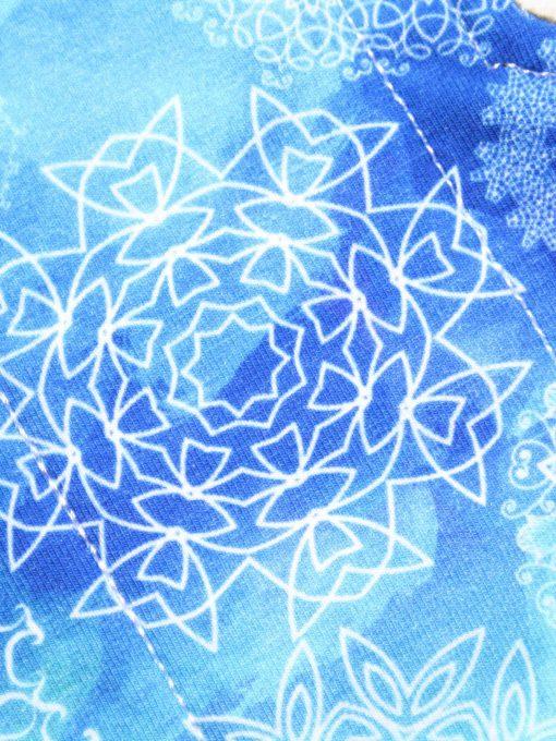 "10"" Regular Flow cloth pad | White Mandalay Cotton Jersey | Black Wind Pro Fleece | Luna Landings | Sub"
