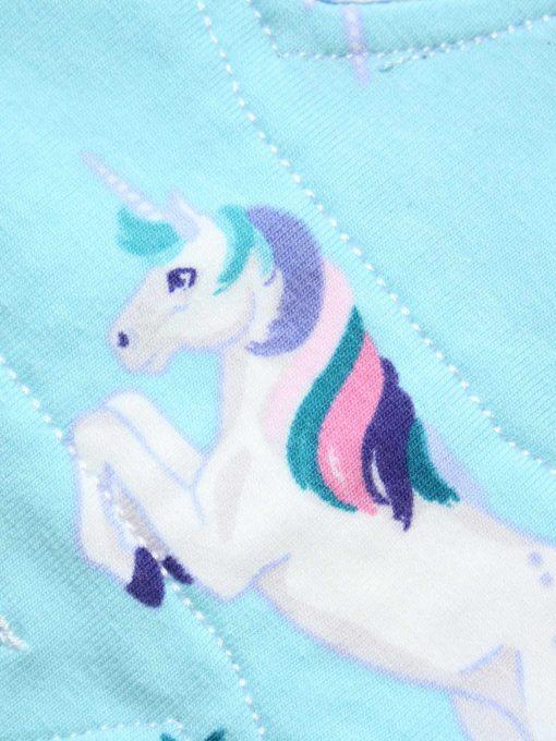 "6"" Light Flow cloth pad   Unicorns Cotton Jersey   Blue Wind Pro Fleece   Luna Landings   Slim Sub"