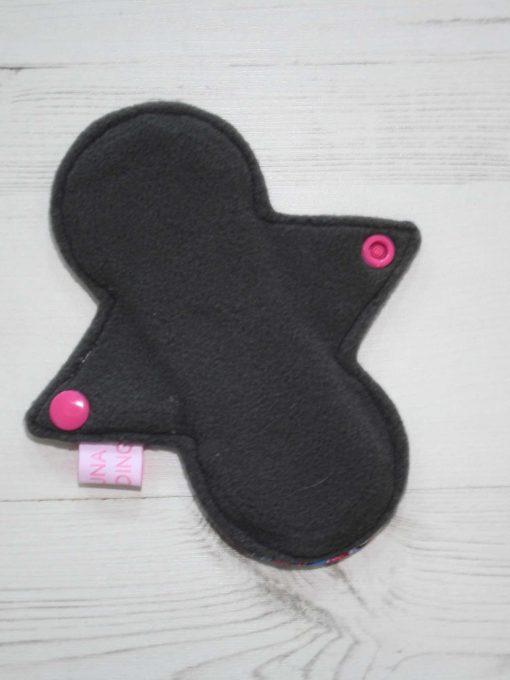 "6"" Regular Flow cloth pad | Pony Apocalypse Cotton Jersey | Grey Wind Pro Fleece | Luna Landings | Slim Sub"