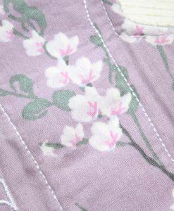 "8"" Light Flow cloth pad | Lilac Blossom Cotton | Grey Soft Shell | Luna Landings | Slim Sub"