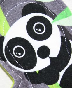 "8"" Regular Flow cloth pad | Panda Cotton Jersey | Green Wind Pro Fleece | Luna Landings | Slim Sub"