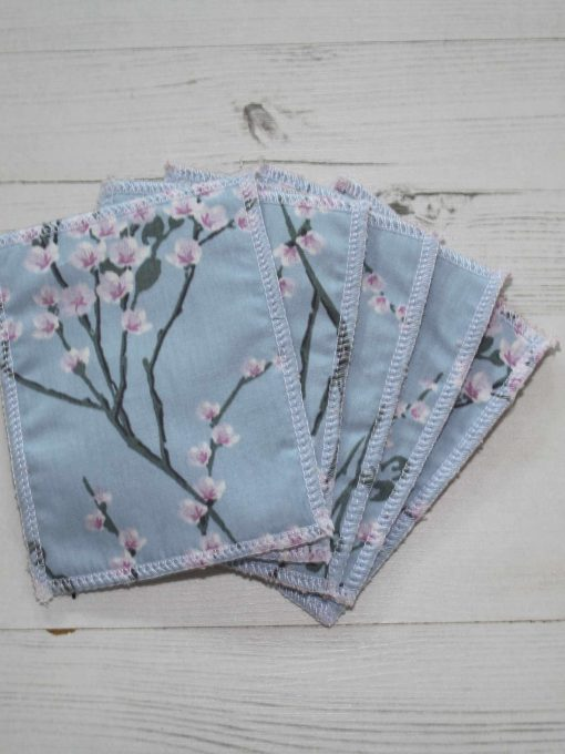 Blue Blossom Make-up remover wipes large - set of 5