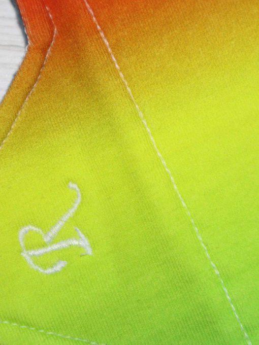 "10"" Regular Flow cloth pad | Tropical Cotton Jersey | Grey Wind Pro Fleece | Luna Landings | Sub"