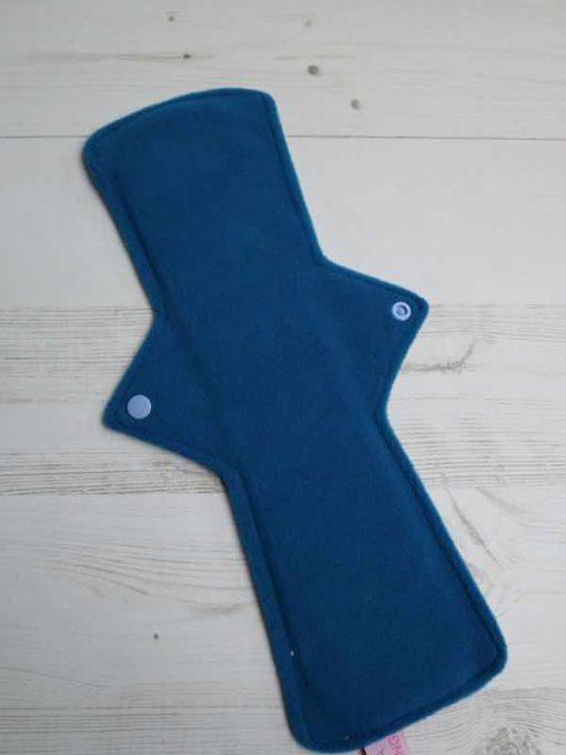 "14"" Heavy Flow cloth pad | Bright Science Cotton Jersey | Blue Wind Pro Fleece | Luna Landings | Double Flare"