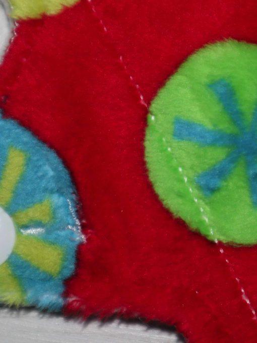 "6"" Light Flow cloth pad | Snowflake Plush | Cream Organic Cotton Fleece | Luna Landings | Sub"
