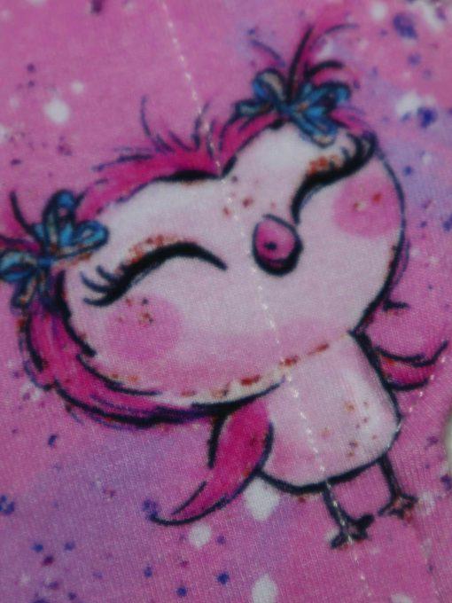 "6"" Liner cloth pad | Owls Bamboo Jersey | Cream Organic Cotton Fleece | Luna Landings | Sub"